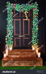 red door and decorations traditional american red painted front door chalk board