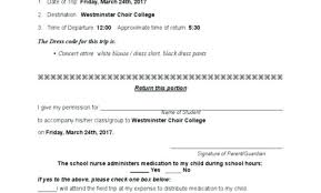School Field Trip Permission Form Template School Field Trip Permission Form Template Scsllc Co