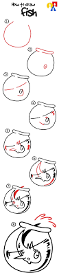 How To Draw Fish From The
