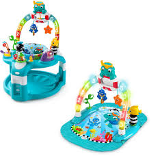 Baby Einstein Lights Melodies Discovery Center Details About Baby Einstein 2 In 1 Lights And Sea Activity Gym And Saucer