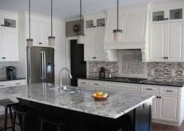 modern kitchen backsplash with white cabinets. Exellent With White Ice Granite Countertops Cabinets Modern Backsplash  Kitchen Design Ideas To Modern Kitchen Backsplash With White Cabinets