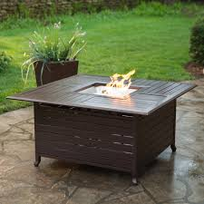 Square Propane Fire Pit Table | Hayneedle