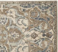 nolan persian style rug neutral pottery barn floor neutral color kitchen rugs