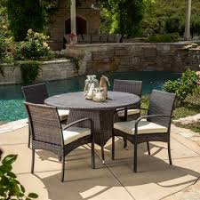 round outdoor dining sets. Contemporary Dining Best Selling Home Decor Coronado 5Piece Round Outdoor Wicker Dining Set Throughout Sets A