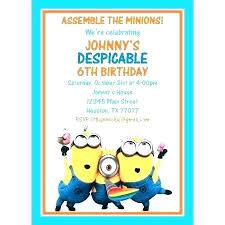 Free Templates For Invitations Printable Unique Despicable Me Birthday Invitations For Minion Invitation