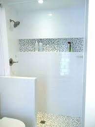 tile edge trim niche shower subway metal how to install build a installation cost simple home