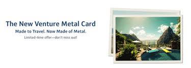 Capital One Venture Rewards Credit Card Gets A Metal Makeover