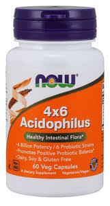 <b>4X6 Acidophilus</b> (пробиотик) NOW <b>60</b> капс — купить в Москве в ...