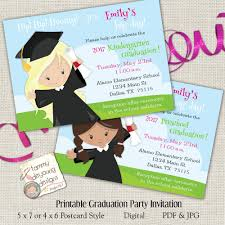 Print Graduation Announcement Girls Graduation Invitation Preschool Graduation
