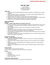 Resumes Nurse Manager Resume Cover Letter Example Icu Examples