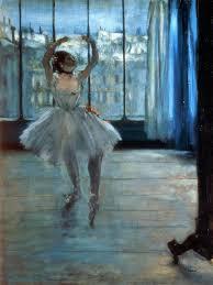 dancer in front of a window artist edgar degas
