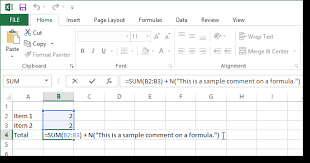 Add Comments To Formulas And Cells In Excel 2013