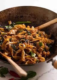 thai drunken noodles pad kee mao