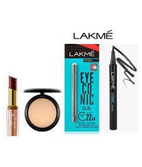 lakme 9 to 5 matte lipstick eyeconic kajal eyeliner and studio