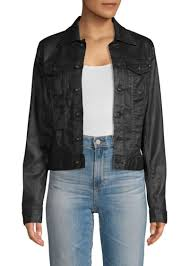 ag adriano goldschmied robyn coated jean jacket