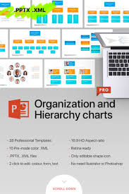 Illustrator Org Chart Template Organizational Chart Hierarchy Powerpoint Template