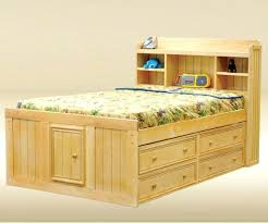 full size storage bed plans. Queen Size Captains Bed Frame Light Wood Captain With Storage Unit And Headboard . Full Plans E