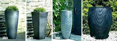 tall outdoor planters glazed pottery ceramic pots large uk blue