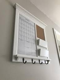 framed dry erase calendar and bulletin