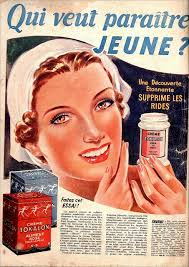a french ad from 1939 for tokalon cream vine beauty ads