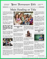 Microsoft Word Newsletter 9 10 Newsletter Format Microsoft Word Tablethreeten Com