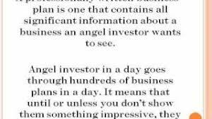 Business plan for angel investors