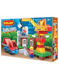 """Пластиковый <b>конструктор BAUER Конструктор Бауер</b> """"<b>Стройка</b> ..."""