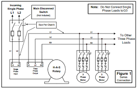 how to install h a s rotary phase conversion system wiring diagrams