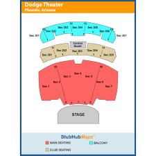 Comerica Theater Map