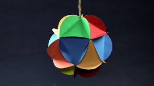 How To Make Hanging Paper Ball Decorations Inspiration DIY Christmas Decorations MultiColored Hanging Paper Ball Making