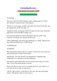 Formatting The Essay Tutorialoutlet Dot Com