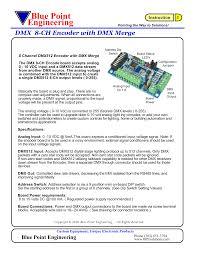 Dmx Encoder Board Blue Point Engineering Manualzz Com