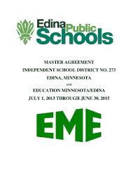 Fillable Online Master Agreement Edina Public Schools Fax
