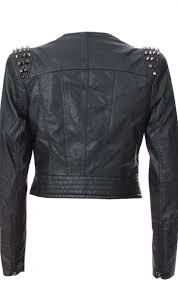 forever unique studded mock leather jacket black boudi