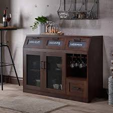 dining room sideboard. Industrial Server - Dining Room Sideboard Cabinet With Chalkboard Drawers And Mesh Doors Vintage Rustic I