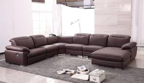 sofa  glamorous modern leather sectional sofa with recliners wrap