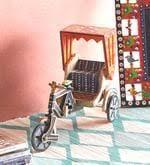Buy <b>Hand Painted</b> Wooden Riksha Miniature by VarEesha Online ...