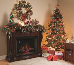 Of Living Rooms Decorated For Christmas Christmas Living Room Night Hang White Socks Light Brown Chair
