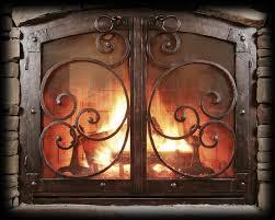 custom made custom fireplace screen black copper terranean style
