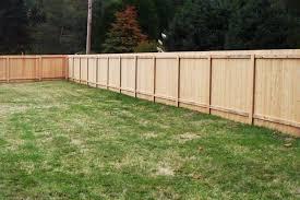 wood fence backyard. Custom Wood Fence In Backyard