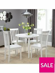 brand new sophia 90 cm round dining table 4 chairs white