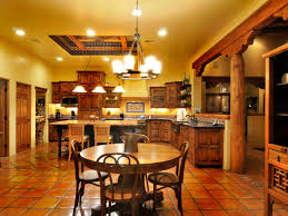 kitchen appealing colonial spanish style kitchen with round wood