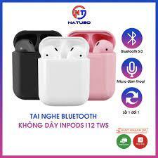 Tai nghe bluetooth không dây Inpods i12 TWS cảm ứng điều khiển cảm biến âm  thanh HIFI cho Android và iOS - Tai nghe Bluetooth nhét Tai