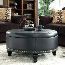round leather coffee table round faux leather ottoman white leather coffee table ottoman