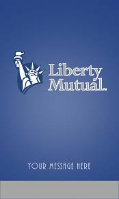 blue liberty mutual business card design 207051