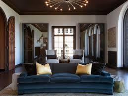 Velvet Living Room Furniture Small Living Room Furniture 2 Seat Blue Velvet Sofa Removable Back