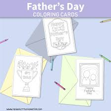 More printables from paper trail design. Printable Father S Day Cards To Color Messy Little Monster