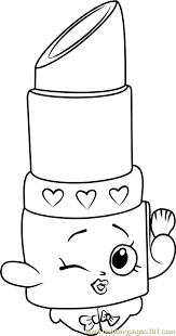 Lippy Lips Shopkins Coloring Page Free Shopkins Coloring Pages