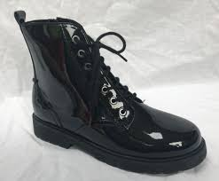 bnib clarks girls purley yo black patent leather ankle boots f fitting