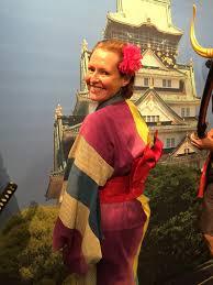 "Amanda Virgo on Twitter: ""In traditional dress at Osaka Castle ..."